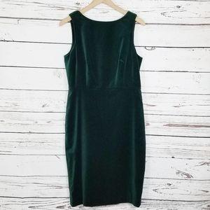 Talbots | Velvet Emerald Green Sheath Dress NWT